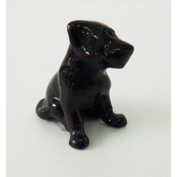 Black Labrador Puppy charm hand painted porcelain