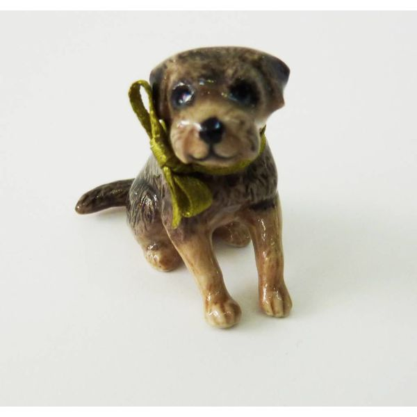 Boarder Terrier Dog charm hand painted porcelain