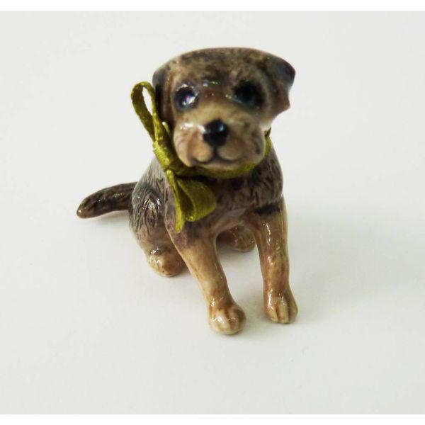 Boarder Terrier Dog charm porcelana pintada a mano