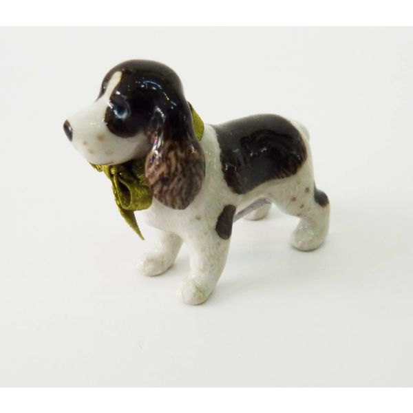 Spaniel charm hand painted porcelain
