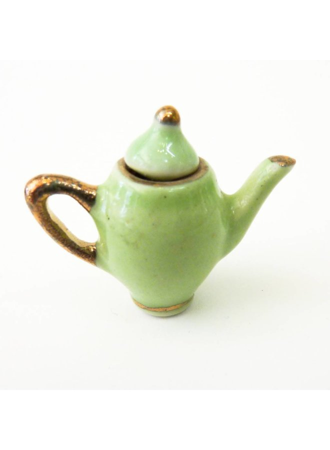 Teapot hand painted porcelain