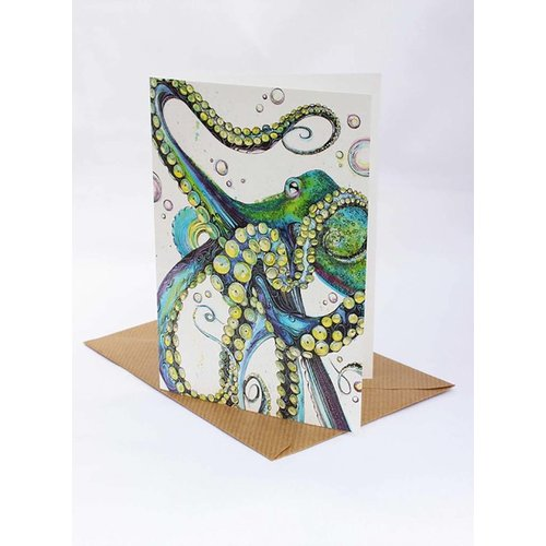 Sophie Cunningham Octopus card 5 x 10 cm