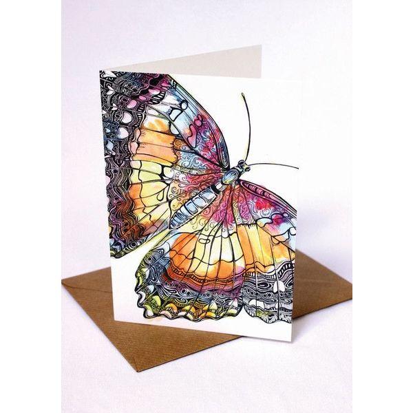 Butterfly card 5 x 10 cm