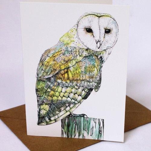 Sophie Cunningham Owl card 5 x 10 cm