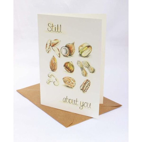 Still Nuts About You card 5 x 10 cm