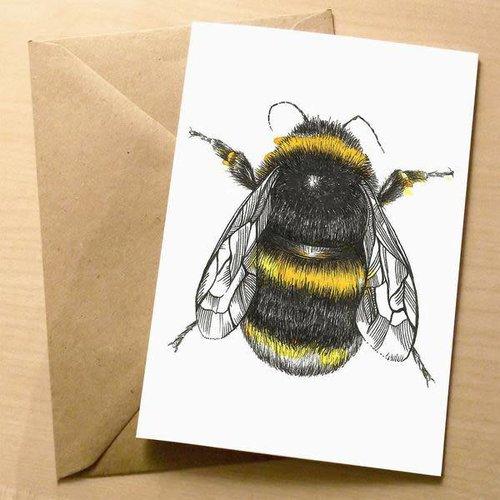 Sophie Cunningham Bee card 5 x 10 cm