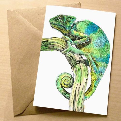Sophie Cunningham Cameleon card 5 x 10 cm