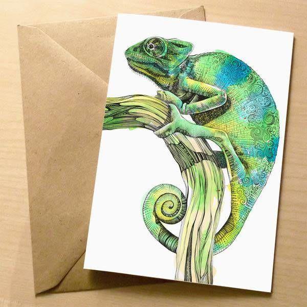 Cameleon card 5 x 10 cm
