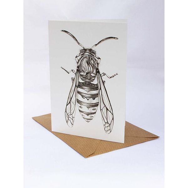 Hornet card 5 x 10 cm