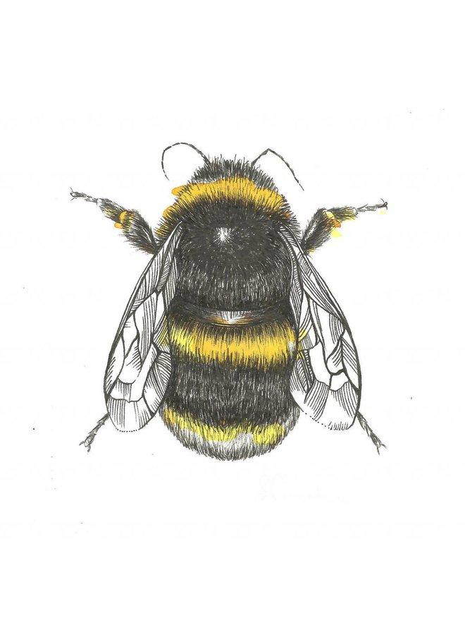 Bee card 5 x 10 cm