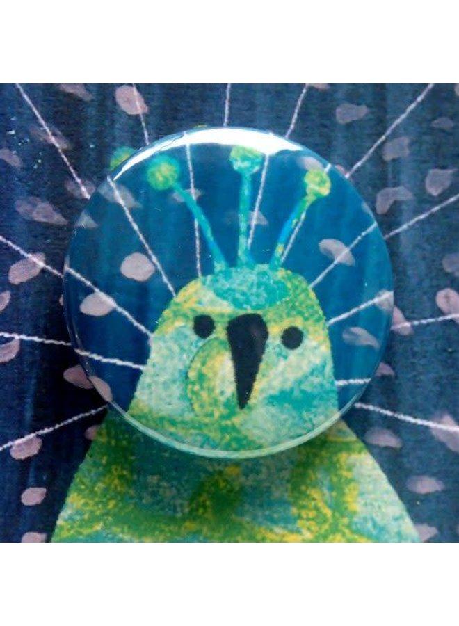 Peacock Birthday Badge Card