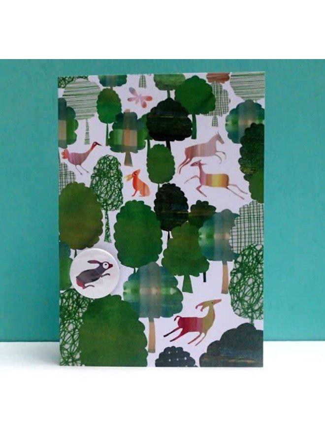Green Woodland Badge Card