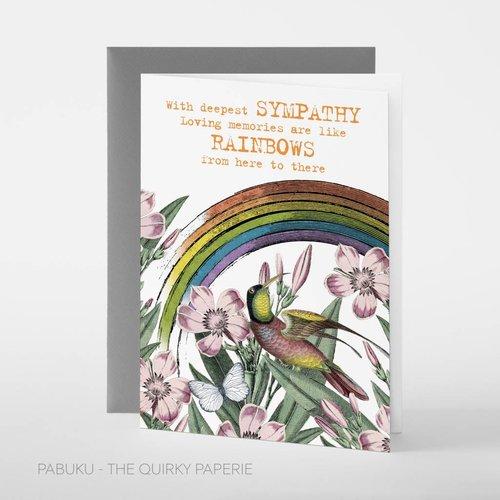 Pabuku Sympathy Rainbows card