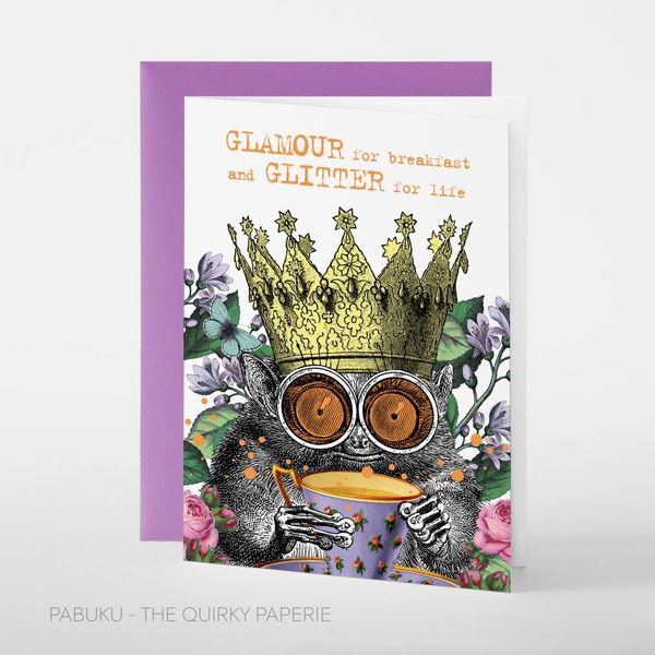 Glamour breakfast card