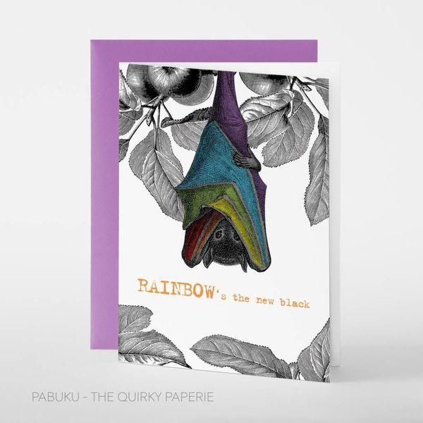 Rainbow black card