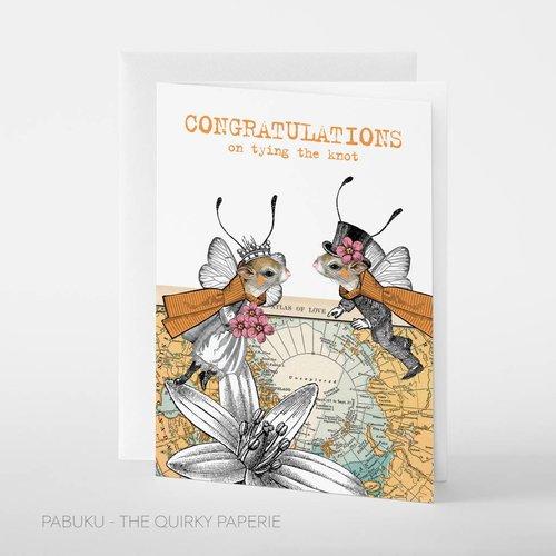 Pabuku Congratulations Knot Mrs and Mr card