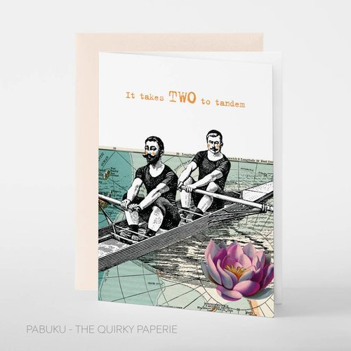 Pabuku It takes Two to Tandem card