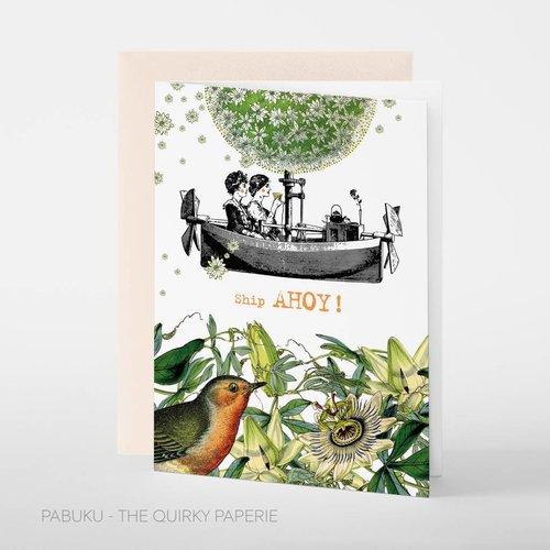 Pabuku Ship Ahoy card
