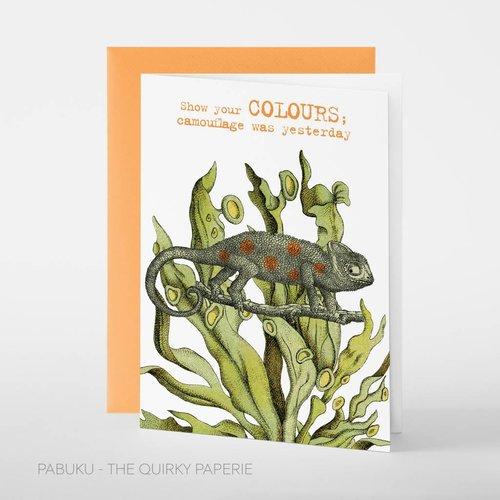 Pabuku Show your Colours card