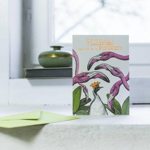 Pabuku World of Flamingos card