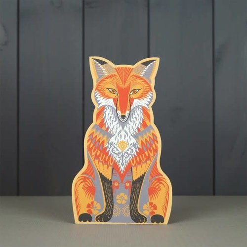 Art Angels Felix Fox cut card by Sarah Young