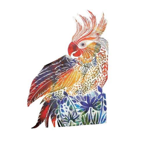 Judy Lumley Cockatoo 3D Card