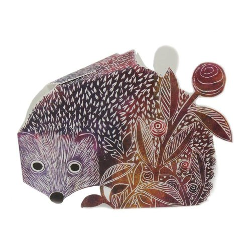 Judy Lumley Hedgehog 3D Card