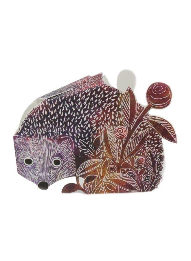 Hedgehog 3D Card