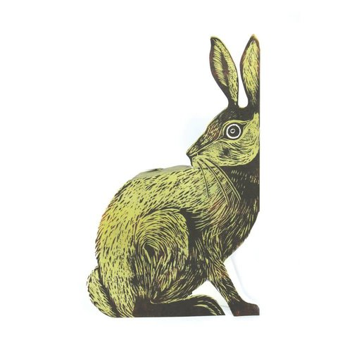 Judy Lumley Earthen Hare 3D Card