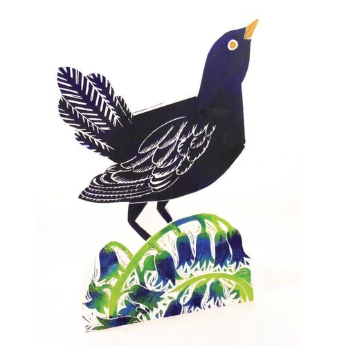 Judy Lumley Blackbird 3D Card