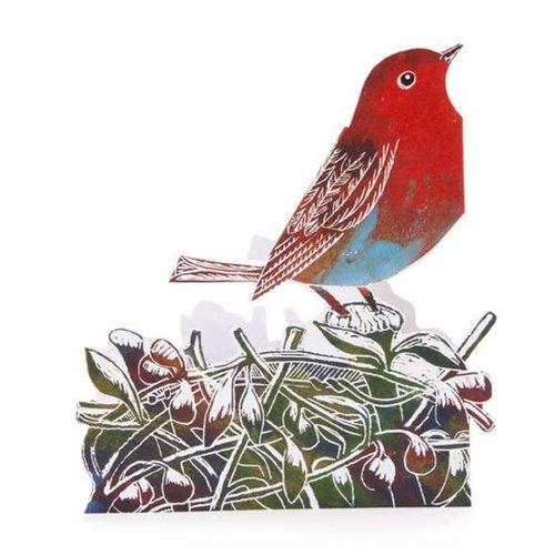 Judy Lumley Robin 3D Card