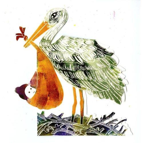 Judy Lumley Stork 3D Card