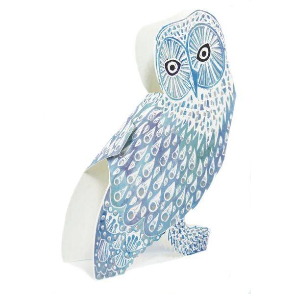 Snowy Owl 3D Card