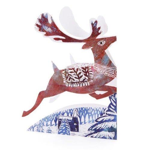 Judy Lumley Reindeer 3D Card