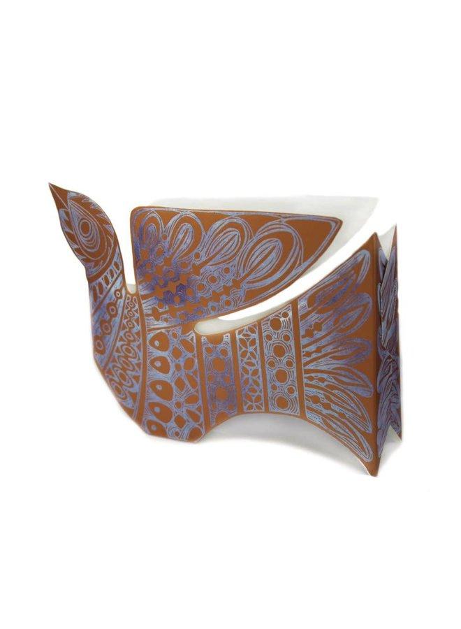 Copper Dove 3D Card