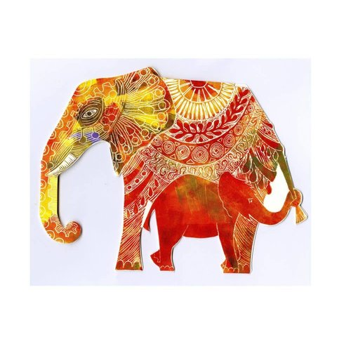 Judy Lumley Elephant 3D Card