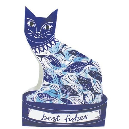 Judy Lumley Best  Fishes Cats 3D Card