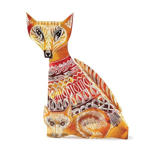 Judy Lumley Fox Owl 3D Card