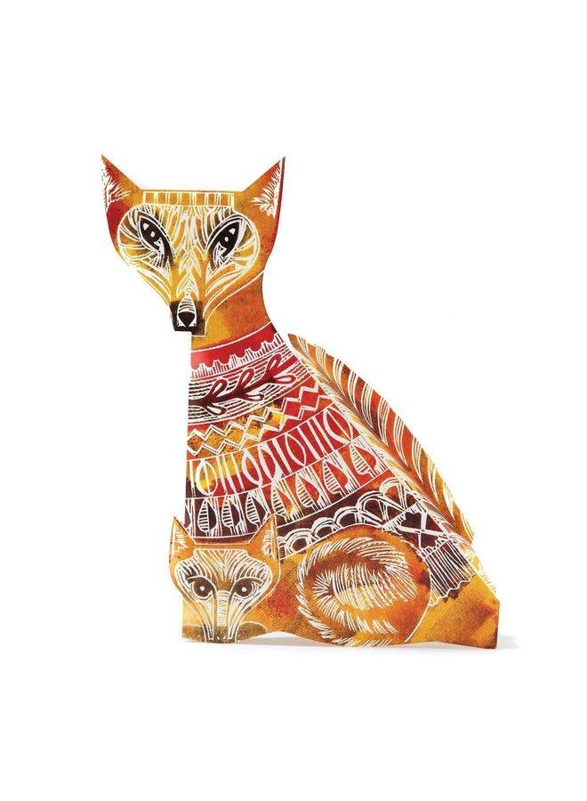Fox Owl 3D Card