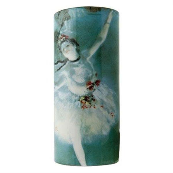 Degas Ballerina Silhouette Art Vase