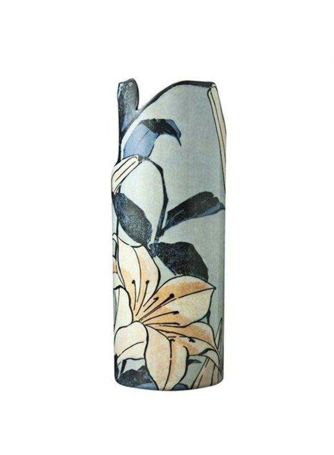 Hokusai Lilien Silhouette Art Vase 100