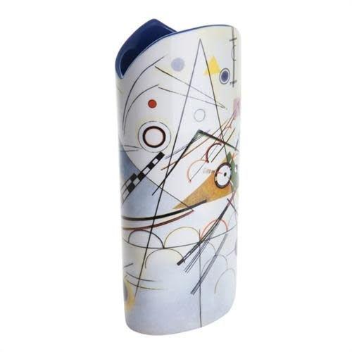 Dartington Crystal Ltd Kandinsky Composición VIII Silueta Arte Jarrón 028