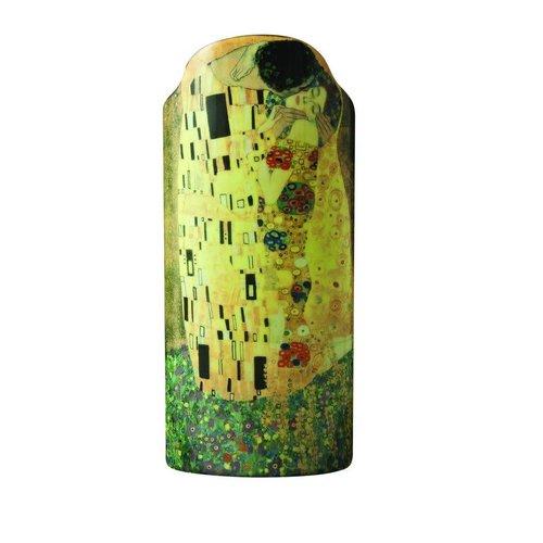 Dartington Crystal Ltd Klimt die Kuss-Schattenbild-Kunst-Vase 027