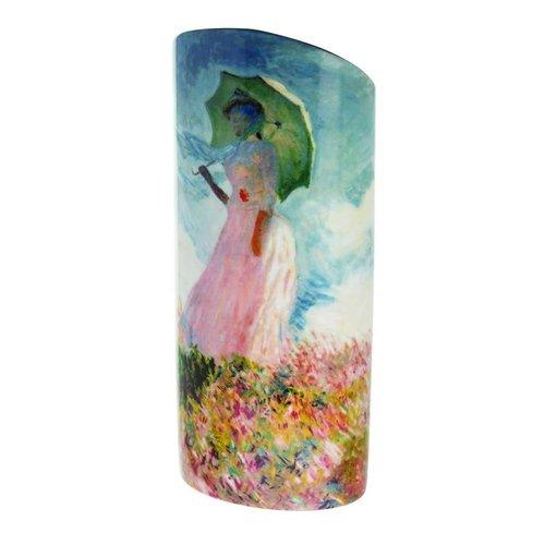Dartington Crystal Ltd Monet Frau mit Sonnenschirm Silhouette Art Vase