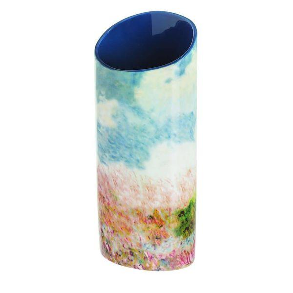 Monet Woman with Parasol  Silhouette Art Vase