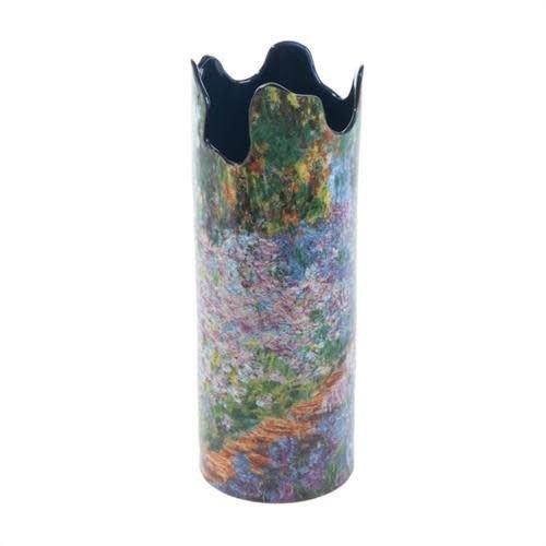 Dartington Crystal Ltd Monet Irises en Garden Silhouette Art Vase 072