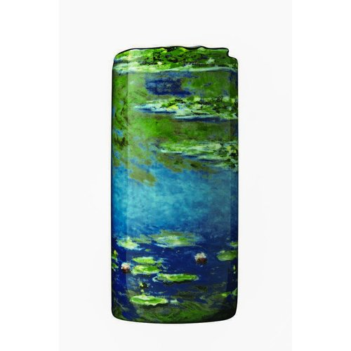 Dartington Crystal Ltd Monet Seerosen Silhouette Art Vase 033