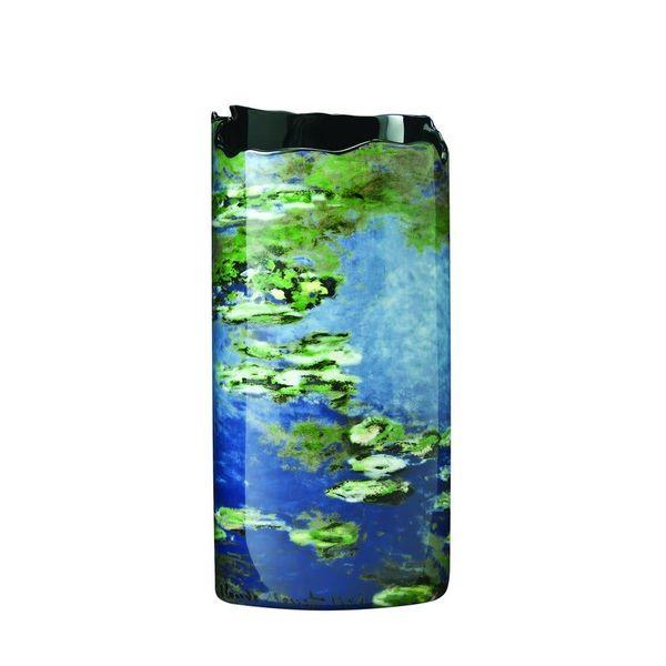 Monet Water Lilies Silhouette Art Vase