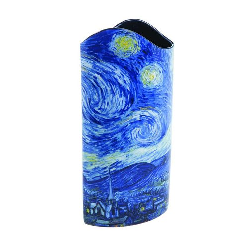 Dartington Crystal Ltd Van Gogh Starry Night Silhouette Art Vase
