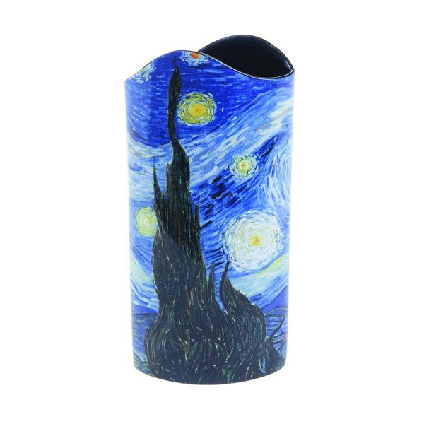 Van Gogh Starry Night Silhouette Art Vase